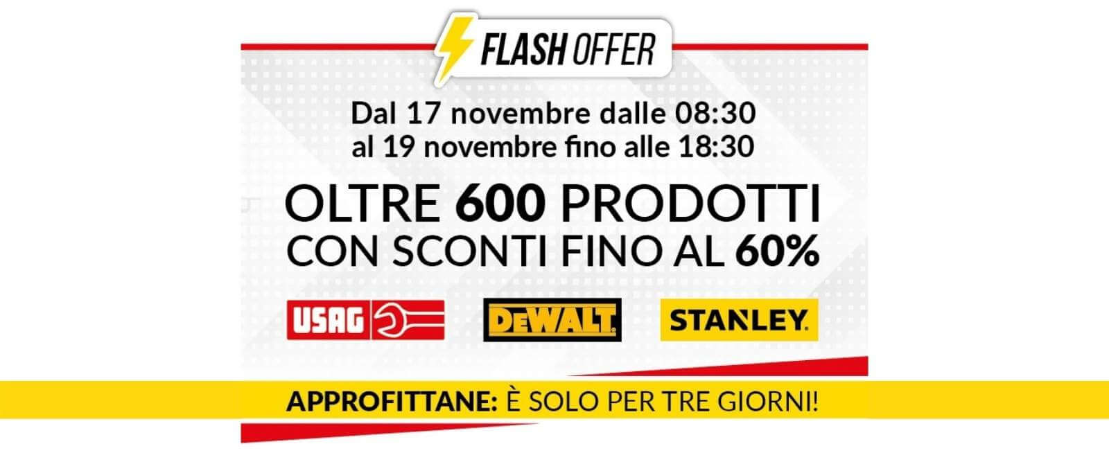 FLASH OFFER - Sconti fino al 60%